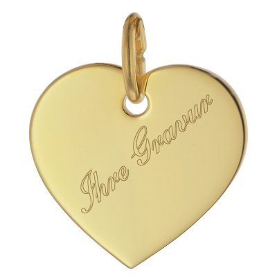 trendor 75698 Gravurplatte Herz Anhänger Gold 333 (8 Kt)