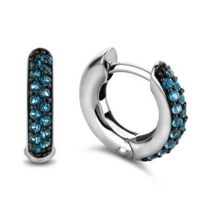 Ti Sento 7210DB Damen-Ohrringe Silber Blau
