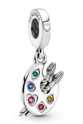 Pandora 799320C01 Silber Charm-Anhänger Künstlerpalette