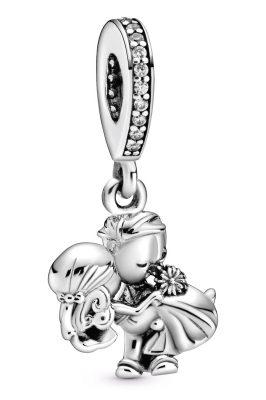 Pandora 798896C01 Silber Charm-Anhänger Brautpaar