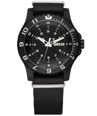 traser H3 100269 Herren-Armbanduhr P66 Type 6 MIL-G Schwarz Natoband