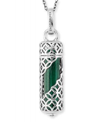Engelsrufer ERN-HEAL-ML-M Halskette für Damen Silber Kraftstein Malachit M