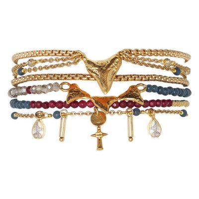 Hipanema H19MABALNA Damen-Armband Abalone Navy