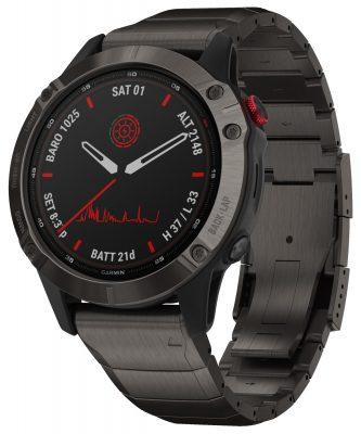 Garmin 010-02410-23 Fenix 6 Pro Solar Smartwatch Schwarz / Titan DLC