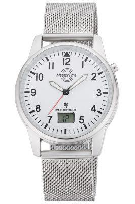 Master Time MTGA-10714-60M Herren-Funkuhr mit Milanaiseband