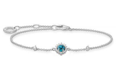 Thomas Sabo A2023-405-17-L19v Damen-Armband Vintage Türkisfarbener Stein