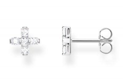 Thomas Sabo H2088-051-14 Silber-Ohrringe Kreuz Weiß