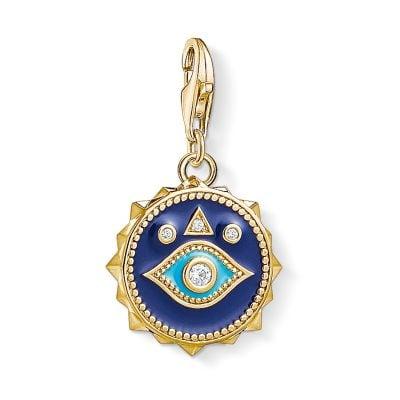 Thomas Sabo 1663-565-32 Charm-Anhänger Nazars Auge vergoldet