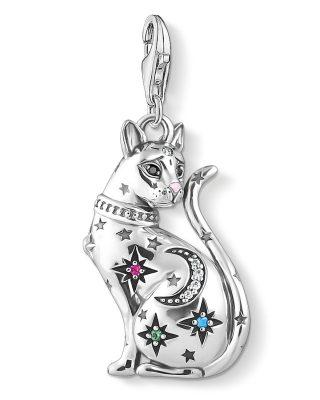 Thomas Sabo 1839-340-7 Charm-Anhänger Katze Sternenbild Silber