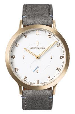 Lilienthal Berlin L01-102-B009B Armbanduhr L1 gold/weiß/grau