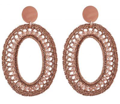 Lott Gioielli CESI125-R28592 Damen-Ohrringe Silk Oval L