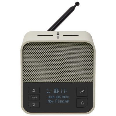 Lexon LA117GV Radiowecker Oslo News DAB+ FM Hellgrau/Grün