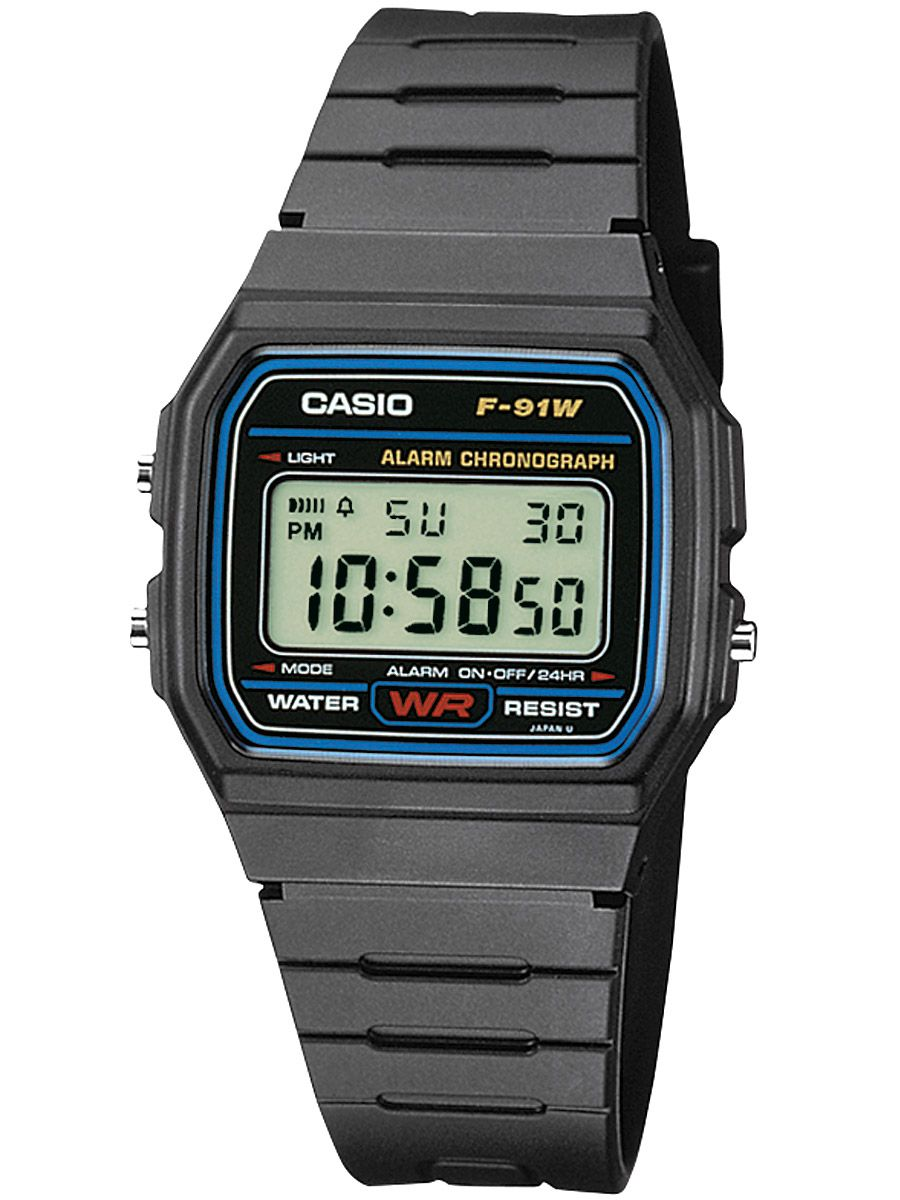 Casio F-91W-1YEF Mens Digital Watch • uhrcenter