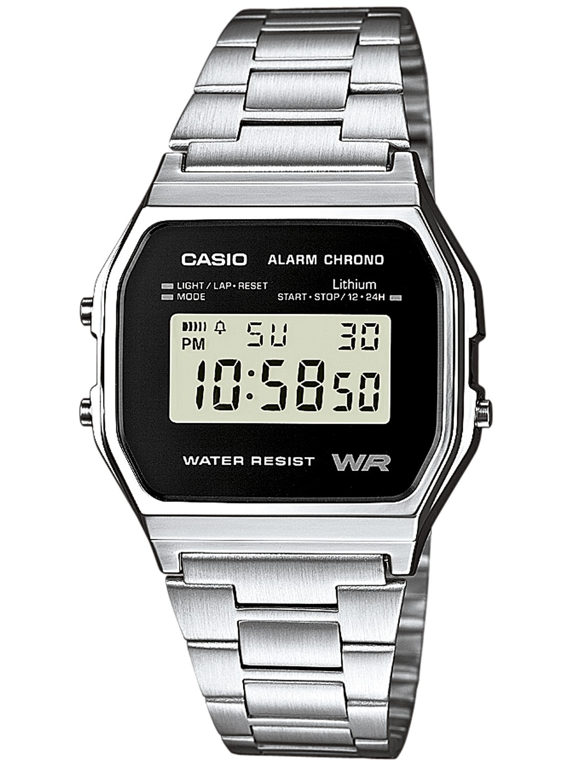 Casio A158WEA-1EF Alarm Chrono Digital Watch • uhrcenter