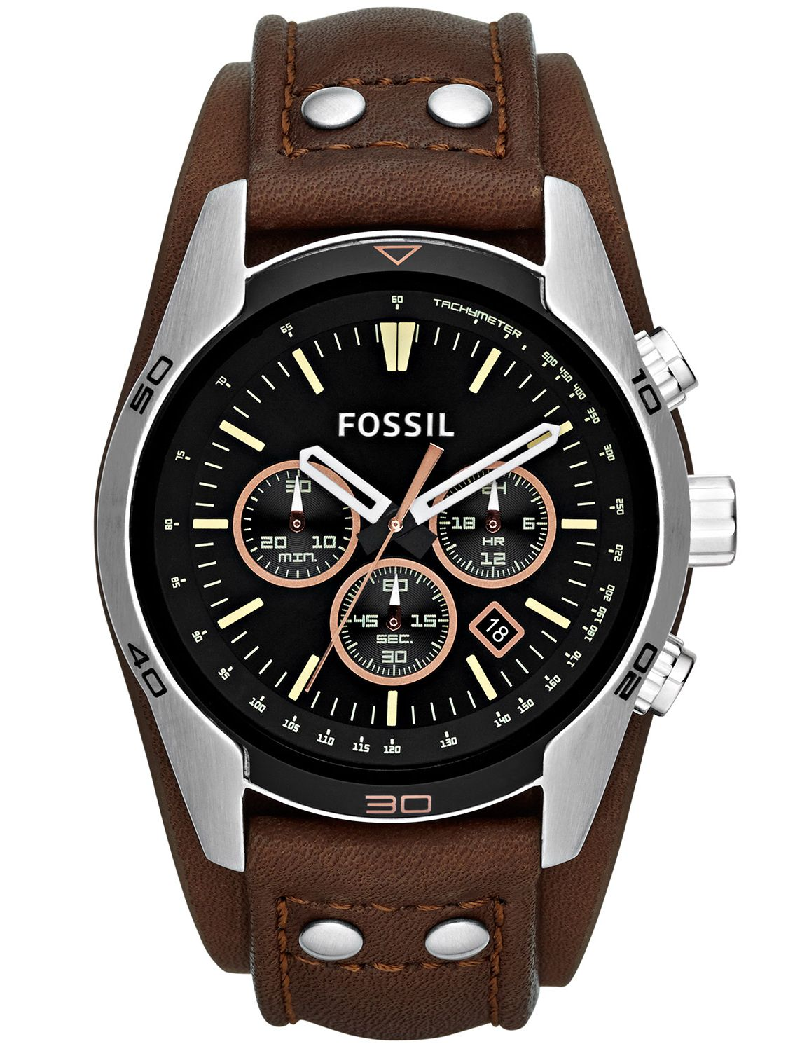 fossil ch2891 coachman mens chronograph. Black Bedroom Furniture Sets. Home Design Ideas